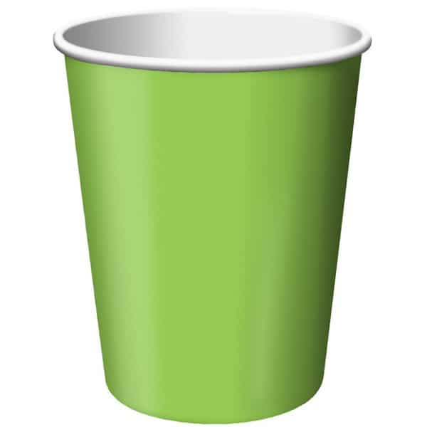 Lime Green Paper Cups 270ml - Pack of 14 Bundle Product Image