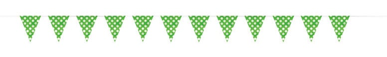 Lime Green Decorative Dots Bunting - 12 Ft / 3.65m