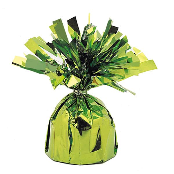 Lime Green Foil Balloon Weight Product Image