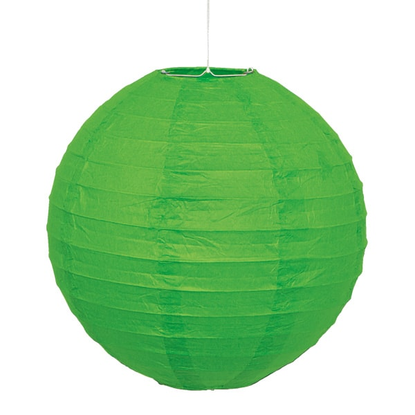 Lime Green Hanging Round Paper Lantern 25cm Product Image