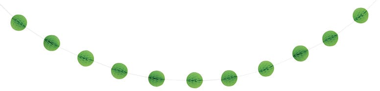 Lime Green Honeycomb Ball Garland - 213cm Product Image