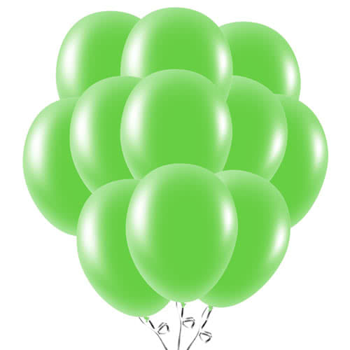 Lime Green Latex Balloons 23cm / 9Inch - Pack of 50 Product Image
