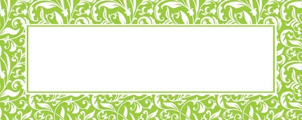 Lime Green Ornamental Pattern Design Large Personalised Banner - 10ft x 4ft