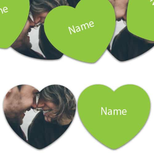 HEART Shape - Lime-Green Personalised Confetti - Pack of 50 Product Image