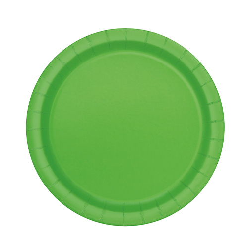 Lime Green Round Paper Plates 17cm - Pack of 20