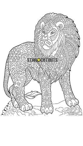 Lion Design Colour Craft Star Mini Cardboard Cutout 94cm