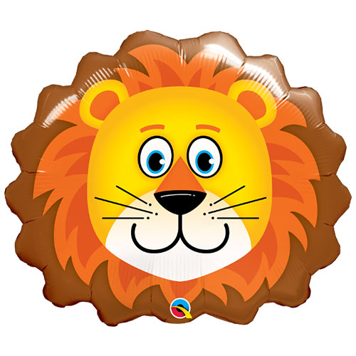 Lion Face Helium Foil Giant Qualatex Balloon 74cm / 29 in Product Image