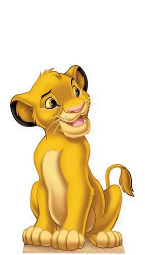 Lion King Simba Lifesize Cardboard Cutout - 85cm Product Image