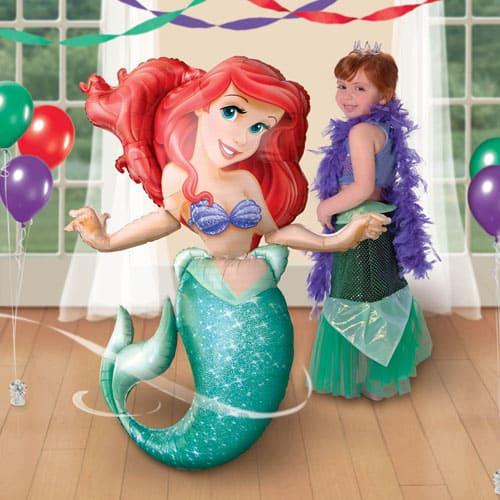 Little Mermaid Airwalker Foil Balloon 134cm / 53 Inch Product Image