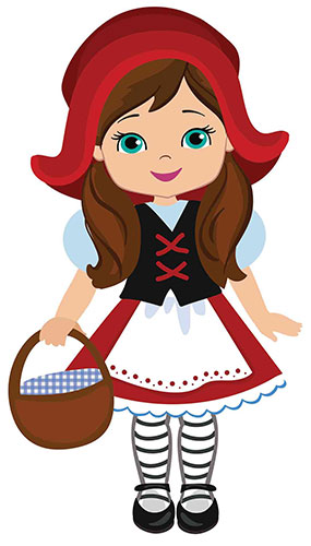 Little Red Riding Hood Fairy Tales Star Mini Cardboard Cutout 91cm Product Image