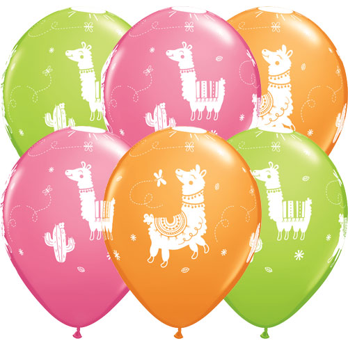 Llama Assorted Latex Balloons 28cm / 11Inch - Pack of 25 Product Image