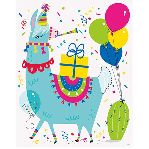 Llama Birthday Party Game Product Gallery Image