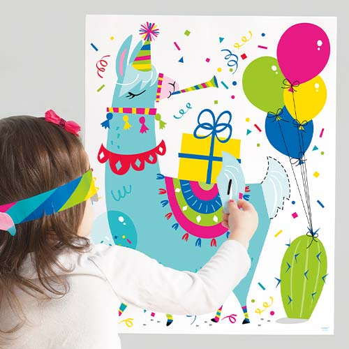 Llama Birthday Party Game Product Image