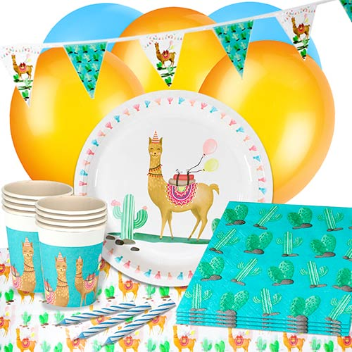 Llama Party 16 Person Deluxe Party Pack