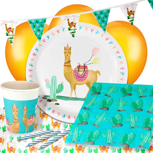 Llama Party 8 Person Deluxe Party Pack Product Image