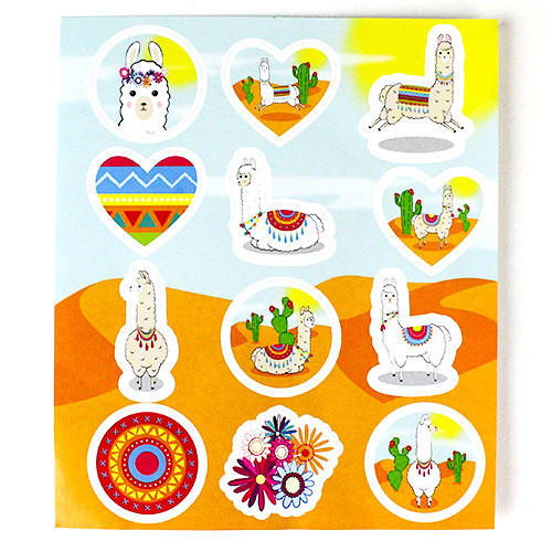 Llama Sticker Sheet Product Image