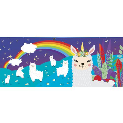 Llamacorn on Field PVC Party Sign Decoration 60cm x 25cm Product Image