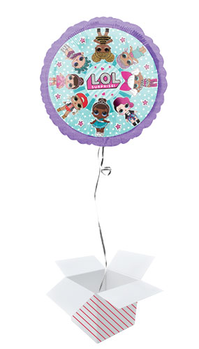 LOL Surprise Girls Foil Helium Balloon - Inflated Balloon in a Box Product Image