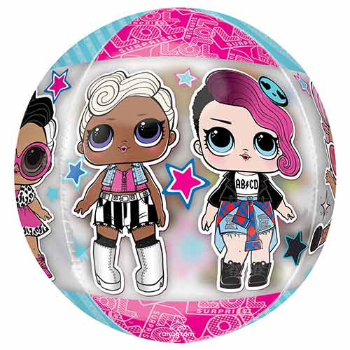 LOL Surprise Glam Orbz Foil Helium Balloon 38cm / 15 in Product Image