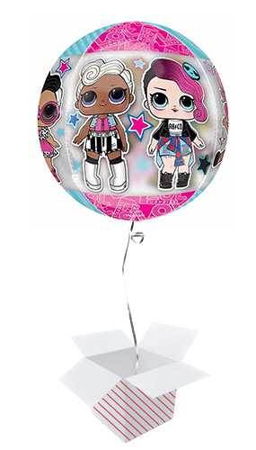 LOL Surprise Glam Orbz Foil Helium Balloon - Inflated Balloon in a Box Product Image