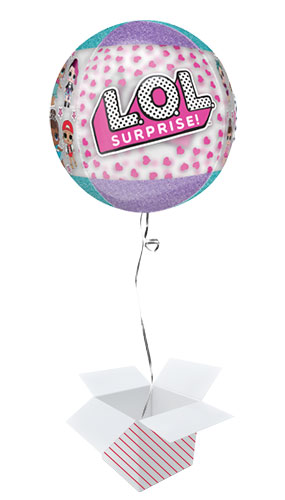 LOL Surprise Orbz Foil Helium Balloon - Inflated Balloon in a Box Product Image