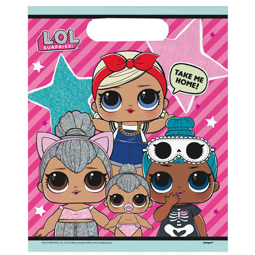 LOL Surprise Party Loot Bags - Pack of 8