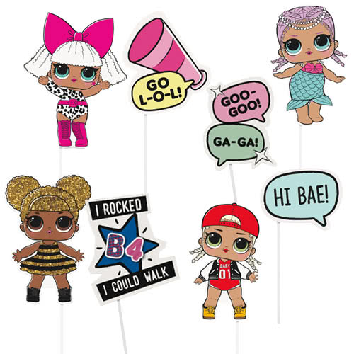 LOL Surprise Party Photo Props - Pack of 8