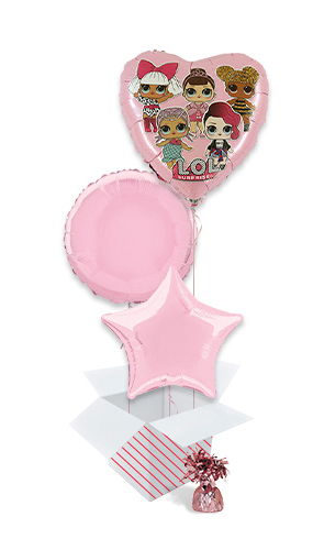 LOL Surprise Pink Foil Helium Balloon Bouquet - 3 Inflated  Balloons In A Box Product Image