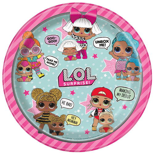 LOL Surprise Round Paper Plates 22cm - Pack of 8 Bundle Product Image