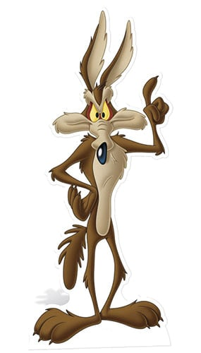 Looney Tunes Wile E Coyote Lifesize Cardboard Cutout - 144cm Product Image