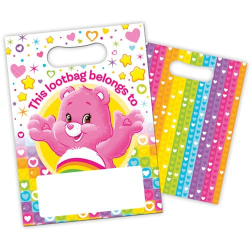Care Bears Loot Bags - Pack of 8 Product Image