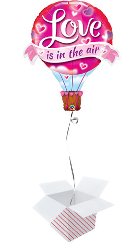 Love Is In The Air Valentines Day Helium Foil Giant Qualatex Balloon - Inflated Balloon in a Box Product Image
