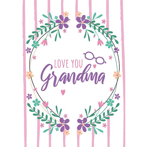 Love You Grandma A3 Poster PVC Party Sign Decoration 42cm x 30cm Product Gallery Image