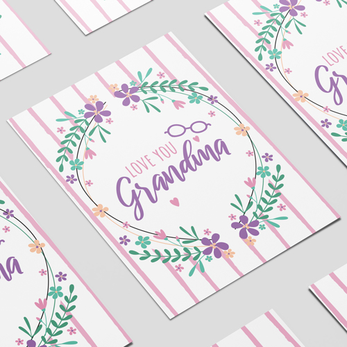 Love You Grandma A3 Poster PVC Party Sign Decoration 42cm x 30cm Product Image