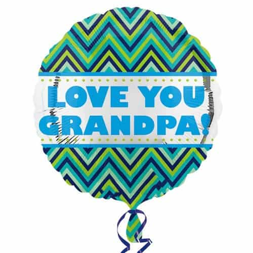 Love You Grandpa Round Foil Helium Balloon 43cm / 17Inch Product Image