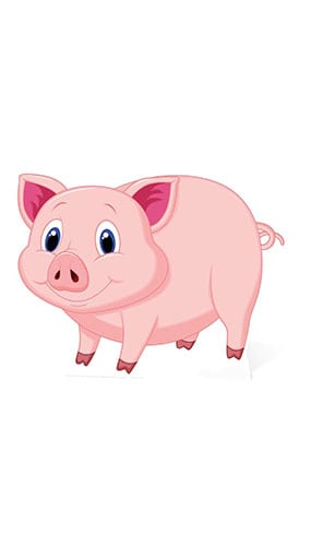 Lucky Pig Cardboard Cutout - 60cm Product Image