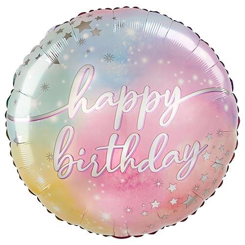 Luminous Happy Birthday Helium Foil Giant Balloon 71cm / 28 in