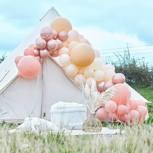 Luxurious Nude Peach & Rose Gold DIY Garland Balloon Arch Kit