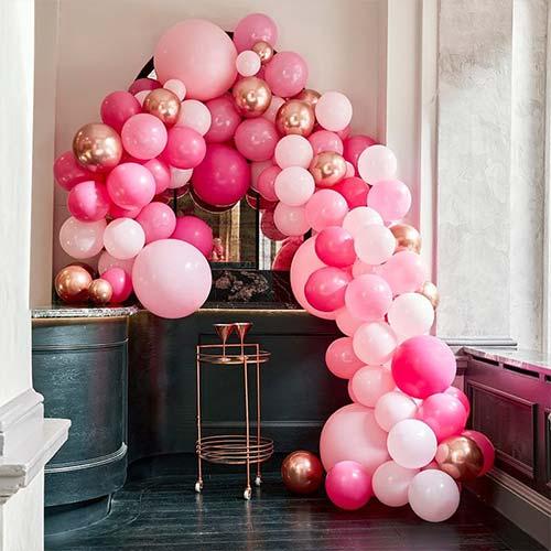 Luxurious Pink & Rose Gold DIY Garland Balloon Arch Kit