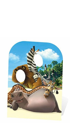 Madagascar Child Size Stand In Cardboard Cutout - 130cm Product Image