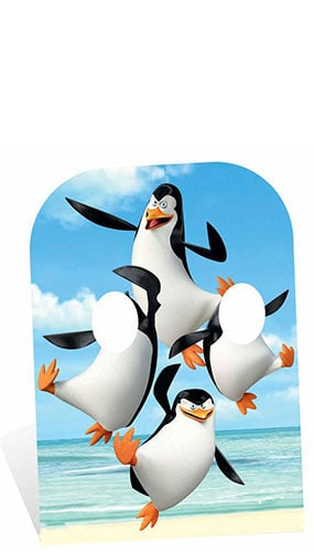 Madagascar Penguins Child Size Stand In Cardboard Cutout - 160cm Product Image