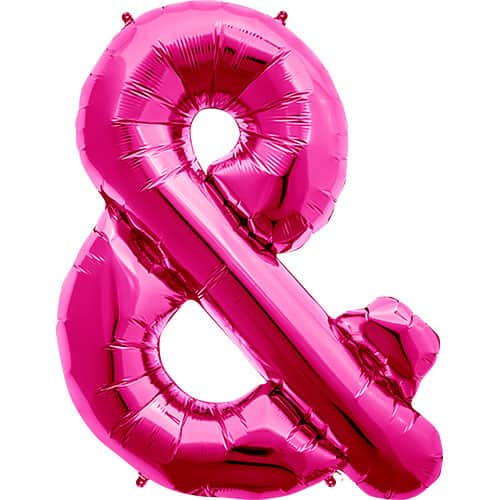 Magenta Ampersand Foil Helium Balloon 86cm / 34Inch Product Image