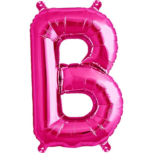 Magenta Letter B Air Fill Foil Balloon 41cm / 16Inch Product Image