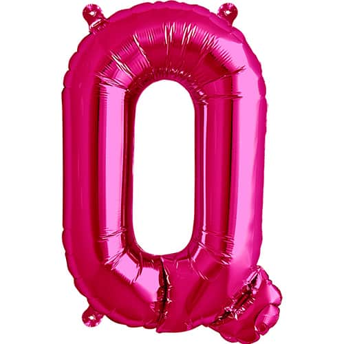 Magenta Letter Q Air Fill Foil Balloon 41cm / 16Inch Product Image