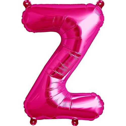 Magenta Letter Z Air Fill Foil Balloon 41cm / 16Inch Product Image
