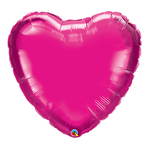 Magenta Heart Helium Foil Giant Qualatex Balloon 91cm / 36 in Product Image