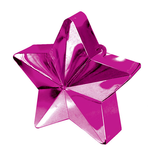 Magenta Star Balloon Weight Product Image