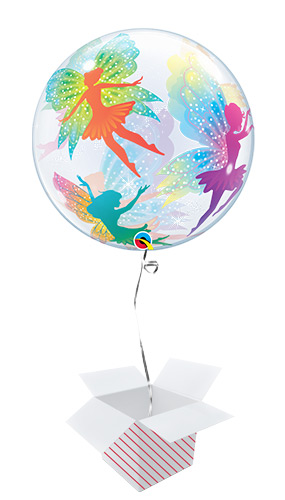 Magical Fairies Bubble Helium Qualatex Balloon - Inflated Balloon in a Box Product Image