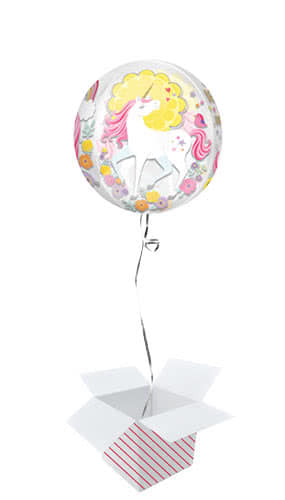 Magical Unicorn Orbz Foil Balloon - Inflated Balloon in a Box