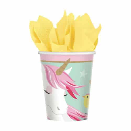 Magical Unicorn Paper Cups 266ml - Pack of 8 Product Image